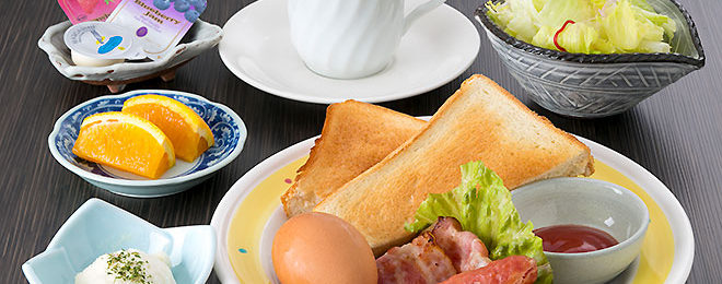 プラザホテル豊田の朝食(和食)