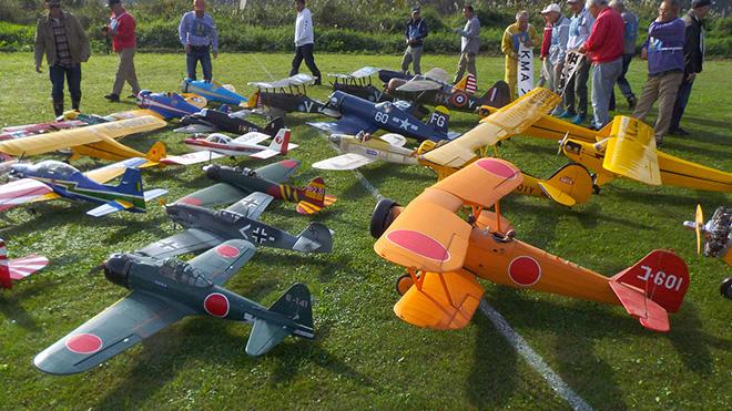 素晴らしきラジコン模型航空機の世界展の展示物
